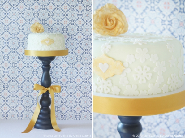 Wedding cake gold oriental by lovecake odise mattle lovecake mit